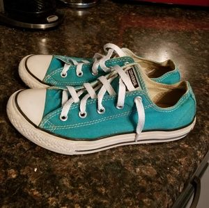 Converse teal green sneakers sz 5